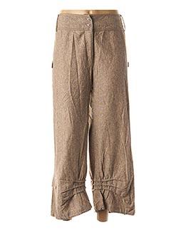 Pantalon 7/8 beige EPICEA pour femme