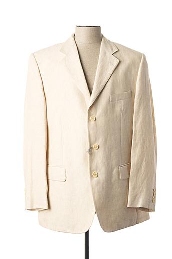 Veste chic / Blazer beige BOZZALLA & LESNA pour homme