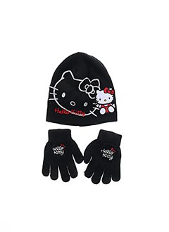 Bonnet noir HELLO KITTY pour fille