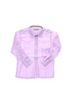 Chemise manches longues violet ESTHER pour garçon