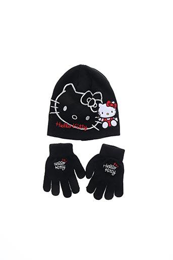 Bonnet noir HELLO KITTY pour fille