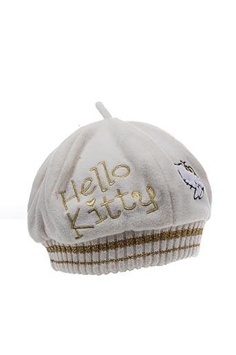 Chapeau blanc HELLO KITTY pour fille