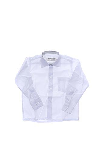 Chemise manches longues blanc ESTHER pour garçon