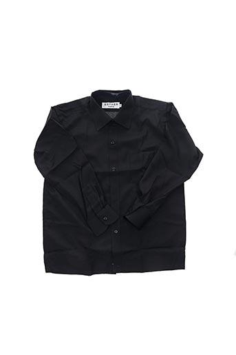 Chemise manches longues noir ESTHER pour garçon