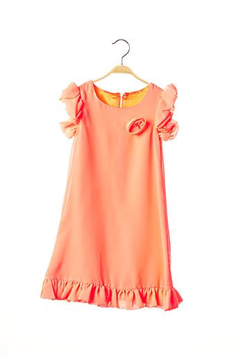 Robe longue orange PASSANELA pour fille