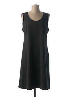 Robe mi-longue noir HALOGENE pour femme