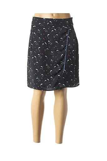 Jupe mi-longue bleu THALASSA pour femme