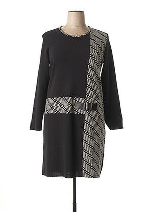 Robe pull noir JEAN DELFIN pour femme