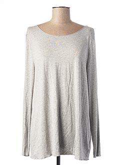 T-shirt manches longues gris BETTY AND CO pour femme