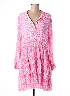 Robe courte rose LAUREN VIDAL pour femme
