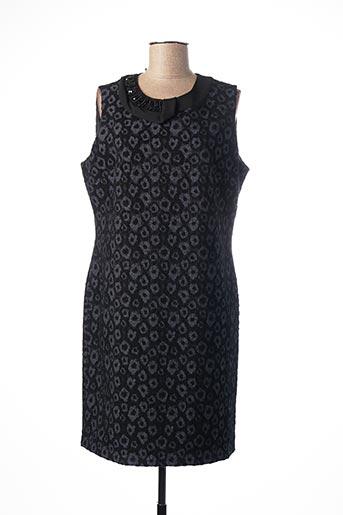 Robe mi-longue noir ANDAMIO pour femme