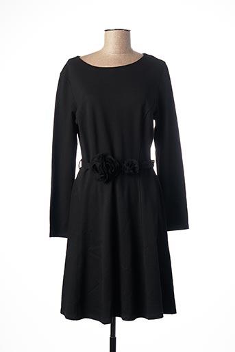 Robe mi-longue noir BLANC NATURE pour femme