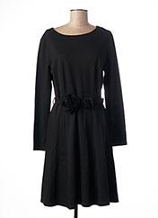 Robe mi-longue noir BLANC NATURE pour femme seconde vue