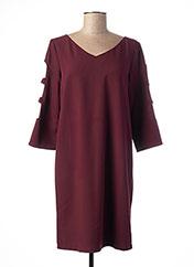 Robe mi-longue rouge VOODOO pour femme seconde vue
