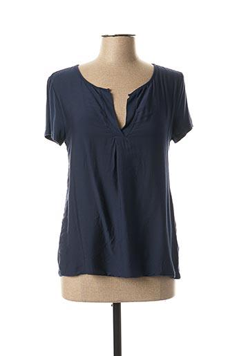 T-shirt manches courtes bleu POUSSIERE D'ETOLE pour femme