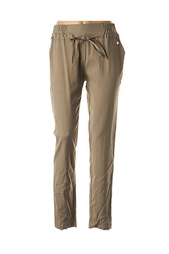 Pantalon chic vert LE PETIT BAIGNEUR pour femme
