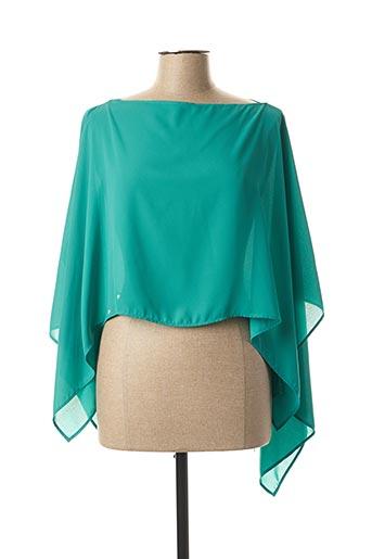 Poncho vert ANDAMIO pour femme
