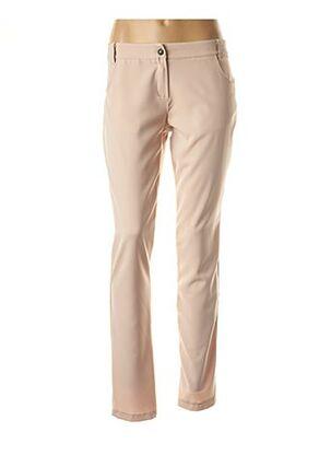 Pantalon casual beige POUSSIERE D'ETOLE pour femme