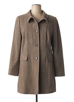 Manteau long marron GIL BRET pour femme