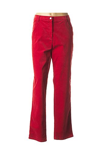 Pantalon casual rouge BRAX pour femme