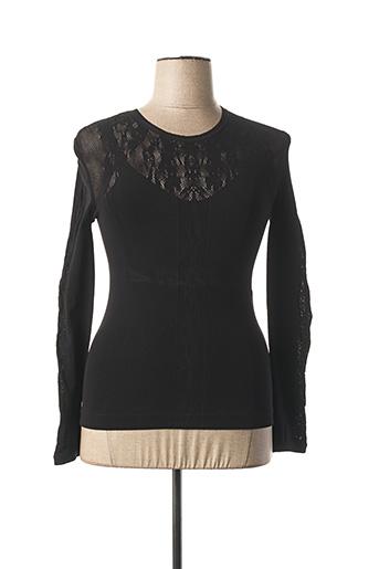 T-shirt manches longues noir ET COMPAGNIE pour femme