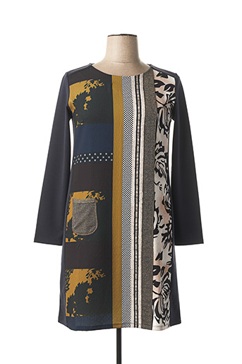 Robe mi-longue gris EVALINKA pour femme
