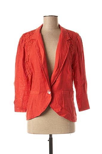 Veste chic / Blazer rouge FRED SABATIER pour femme