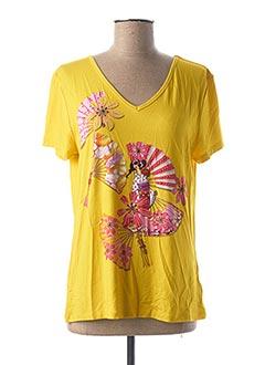 T-shirt manches courtes jaune ANANKE pour femme