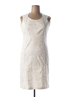 Robe mi-longue blanc EVA KAYAN pour femme
