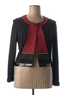 Veste casual noir BLEU BLANC ROUGE pour femme