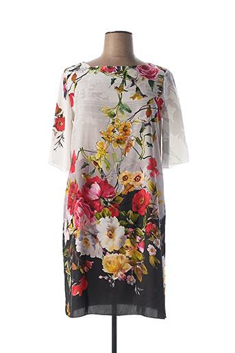 Robe mi-longue blanc ELEONORA AMADEI pour femme