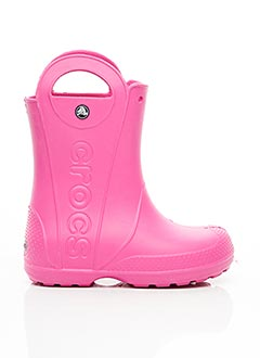 Bottes rose CROCS pour fille