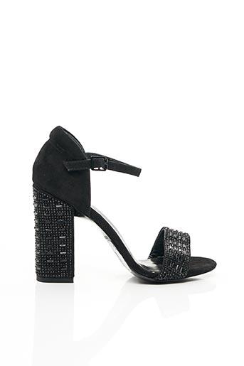 Sandales/Nu pieds noir COSMOPARIS pour femme