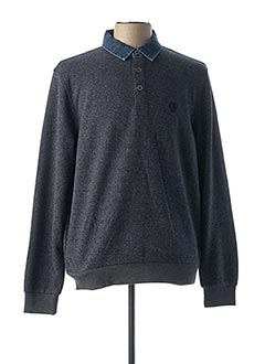 Pull col chemisier bleu MONTE CARLO pour homme