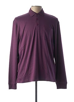 Polo manches longues violet MONTE CARLO pour homme