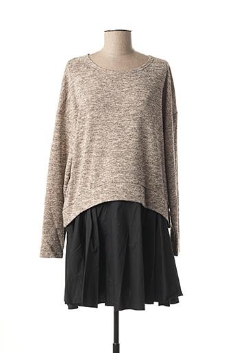 Robe pull noir MISMASH pour femme