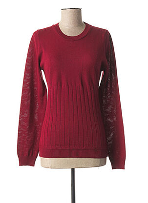 Pull col rond rouge KARTING pour femme