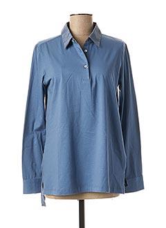 Polo manches longues bleu VAN LAACK pour femme