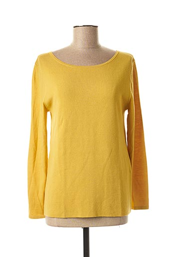 Pull col rond jaune WEEKEND MAXMARA pour femme