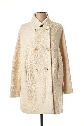 Manteau long beige ROSSO 35 pour femme