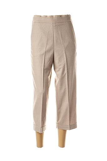Pantalon 7/8 beige FABIANA FILIPPI pour femme