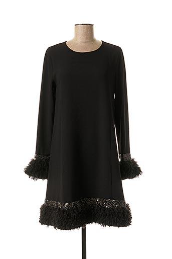 Robe mi-longue noir ÉCLÀ pour femme