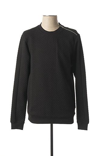 Sweat-shirt noir JACK & JONES pour homme