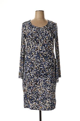 Robe mi-longue bleu SANDWICH pour femme