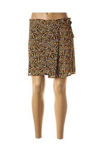 Jupe courte jaune COMPANY pour femme