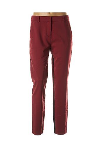 Pantalon casual rouge SANDWICH pour femme
