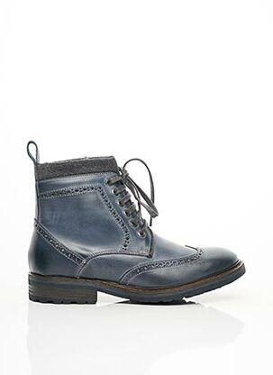 Bottines/Boots bleu SARENZA pour homme