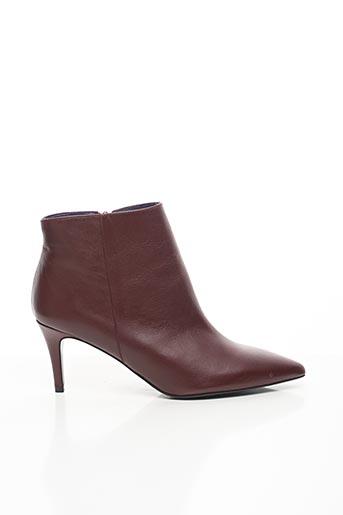 Bottines/Boots rouge ANAKI pour femme