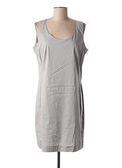 Robe mi-longue gris AVENTURES DES TOILES pour femme
