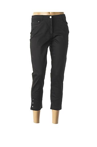 Pantalon 7/8 noir CHRISTINE LAURE pour femme